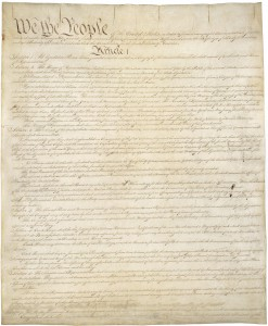 US Constitution, page 1