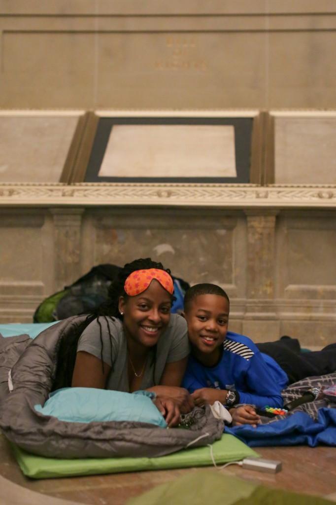 National Archives Rotunda Sleepover; Photo by Jeffrey Reed