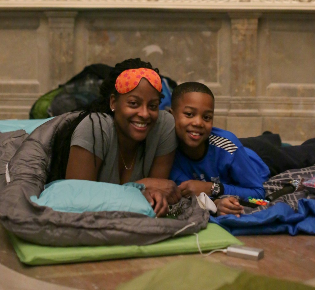 National Archives Rotunda Sleepover; Photo by Jeffrey Reed