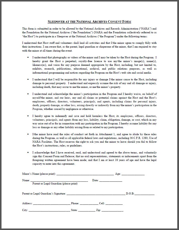 Required Forms - National Archives Foundation