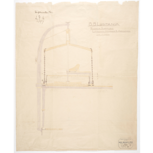 Sketch of the RMS Lusitania's Lifeboat Storage Mechanism