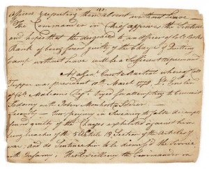 Court-Martial record of Lieutenant Frederick Gotthold Enslin
