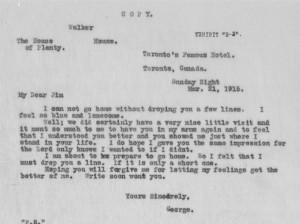 "George McBurney to Samuel ""Jim"" South"