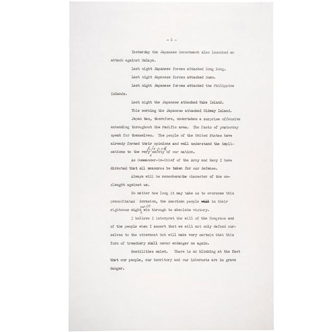 december 7 1941 speech